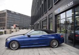 Mercedes-Benz C300 cabrio modrá-001