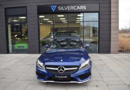 Mercedes-Benz C300 cabrio modrá-002