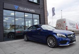 Mercedes-Benz C300 cabrio modrá-003