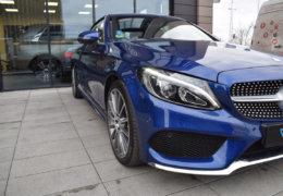 Mercedes-Benz C300 cabrio modrá-005