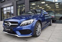 Mercedes-Benz C300 cabrio modrá-006