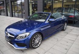 Mercedes-Benz C300 cabrio modrá-007