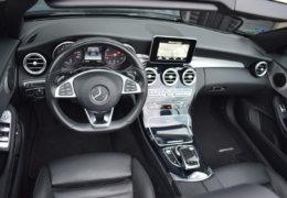 Mercedes-Benz C300 cabrio modrá-017